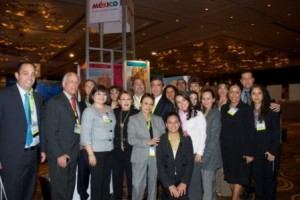 Mexico Booth at Travel Weekly Show in Las Vegas 2011