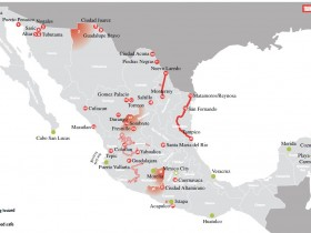 Mexico Travel Warnings Mapped