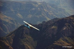 Flying through the canyons